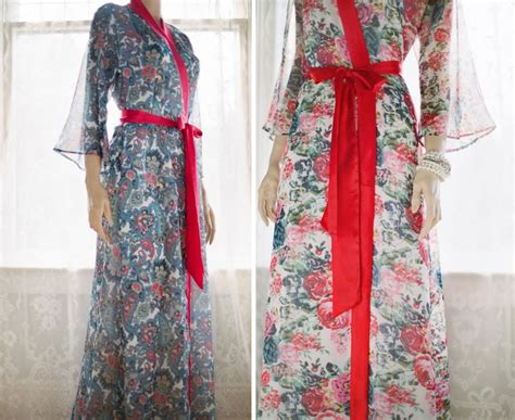 Floor Length Bathrobe by One Custom Quot Astaire Quot Style Robes In Lined Chiffon