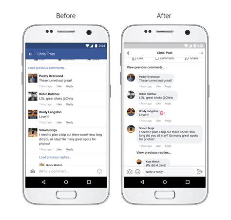 facebook mobile application moins bleu plus rond facebook d 233 voile le nouveau design