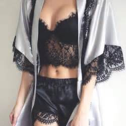 Em White Tie Babydoll black lace crop top with satin shorts and a
