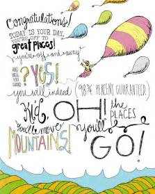oh the places you will go dr seuss quotes quotesgram