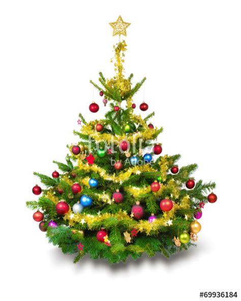 quot bunt geschm 252 ckter weihnachtsbaum vor wei 223 em hintergrund