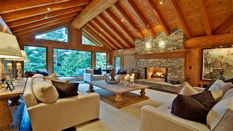 log cabin design modern log house interior