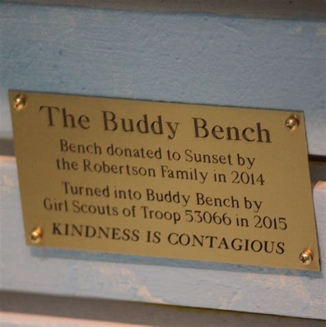 buddy bench at school sunset elementary school buddy bench christian s buddy benchchristian s buddy bench