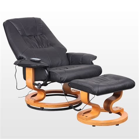 real leather swivel recliner chairs new real leather swivel recliner chair w foot stool