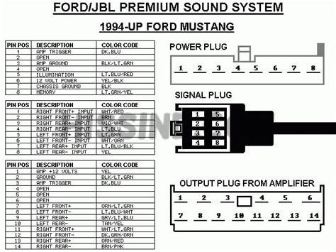 mustang factory radio diagram  upgrade stereo