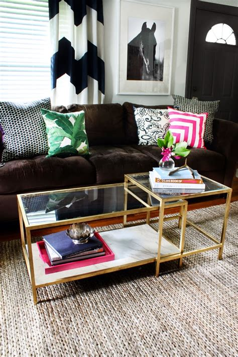ikea hack coffee table hunted interior ikea coffee table makeover fab rug review
