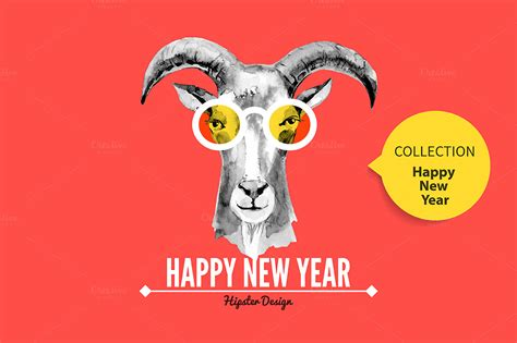 new year goat pictures goat happy new year cards illustrations on