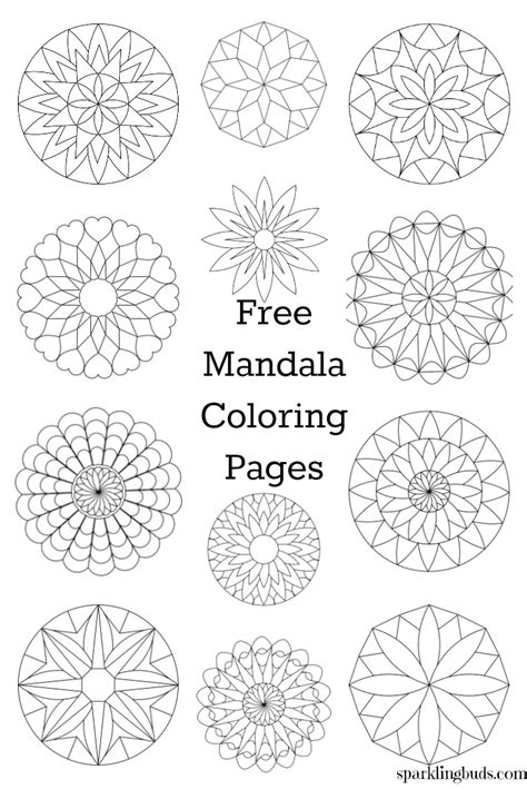 mandala coloring pages free free mandala coloring pages free mandala coloring pages