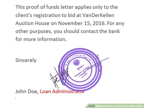 Proof Of Funds Letter Mortgage how to write a proof of funds letter 11 steps with pictures