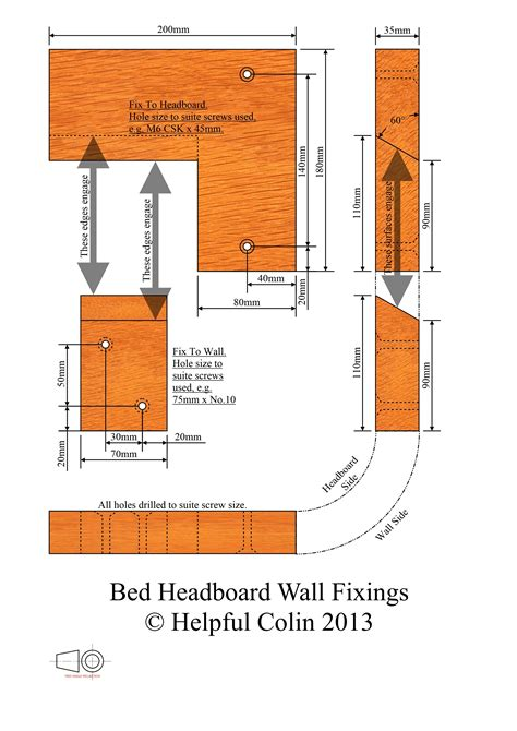 headboard fixings bed headboard wall fixings helpful colin