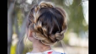 pull through braid easy hairstyles cute girls hairstyles pull thru crown braid updo cute girls hairstyles