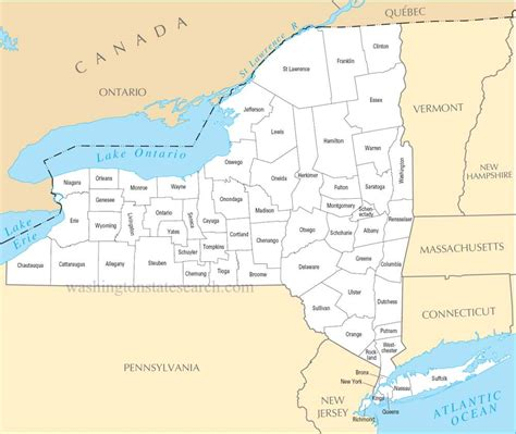 Nys Search A Large Detailed New York State County Map