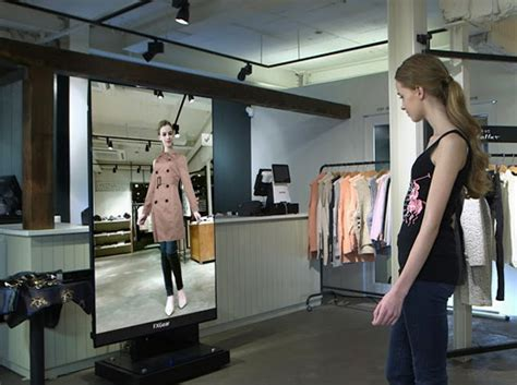 The Technology To Hit The Fitting Rooms Interactive Mirrors by Futuristic Dressing Room Innovative Retail And Marketing