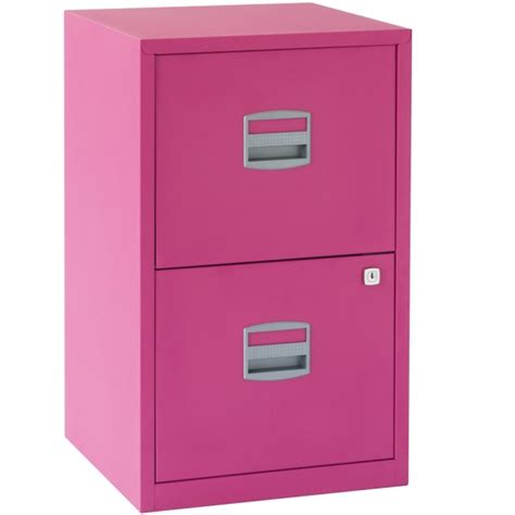 bisley 2 drawer locking a4 filing cabinet pfa2 fuschia pink