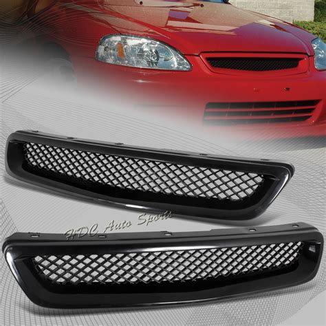 Front Sport Grille Honda New Civic for 1996 1998 honda civic jdm type r black mesh abs front grille grill ebay