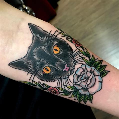 black and white cat tattoo 65 mysterious black cat ideas are they or evil