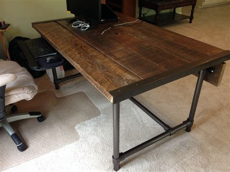 Build A Desk by Easy To Build Barn Wood Desk Desk Week
