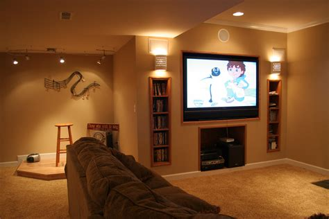 Decorations Ideas For Finishing Basement Walls Along Basement Remodel Ideas