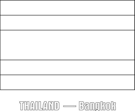 thailand nation flag coloring page download print