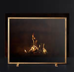 Restoration Hardware Fireplace Screen by Courchevel Glass Panel Fireplace Screen