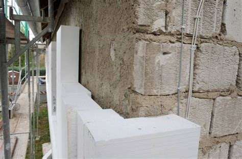styropor verputzen innen 16 zentimeter dicke styropor d 228 mmplatten an einem haus 2