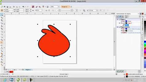 corel draw x6 youtube dibujo un angry birds corel draw x6 youtube