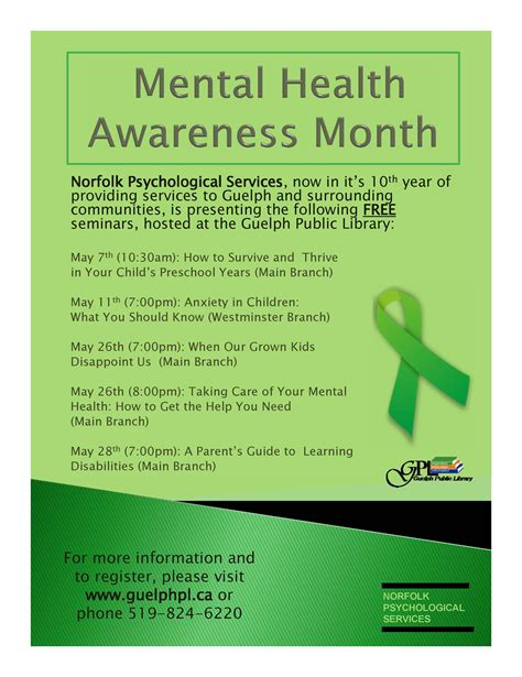 Of Guelph Mba Requirements by Mental Health Awareness Month Gpl In The House