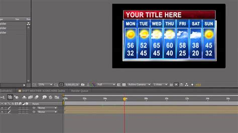 7 Day Adobe After Effects Weather Template Youtube After Effects Weather Template