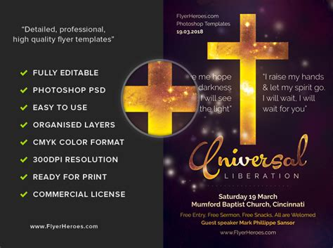 church flyer design templates universal liberation church flyer template flyerheroes