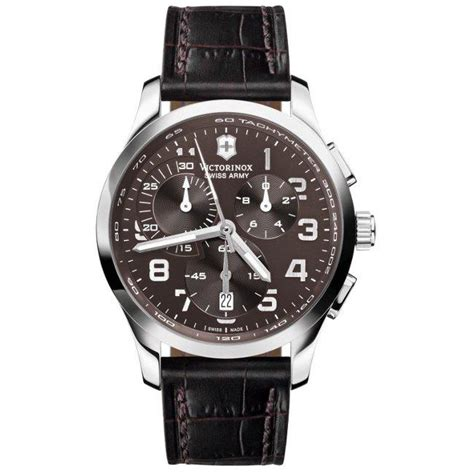Swiss Army Original Silver Brown Leather swiss army s alliance chrono brown leather