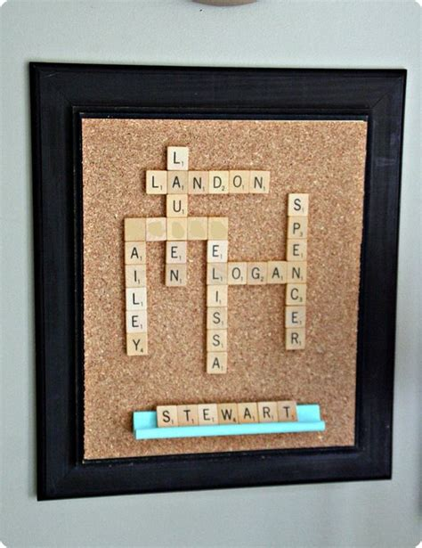 can names be used in scrabble family scrabble board would look wonderful in my den