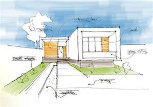 House Architecture Drawing by Minimalistic House Sketch Arch Student Com