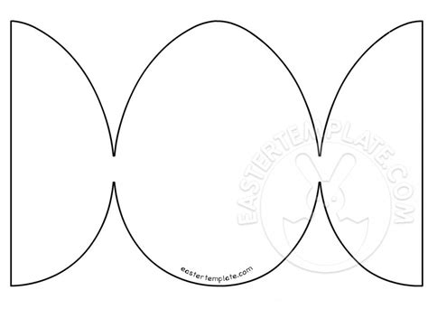 egg templates for cards easter egg foldable card template easter template