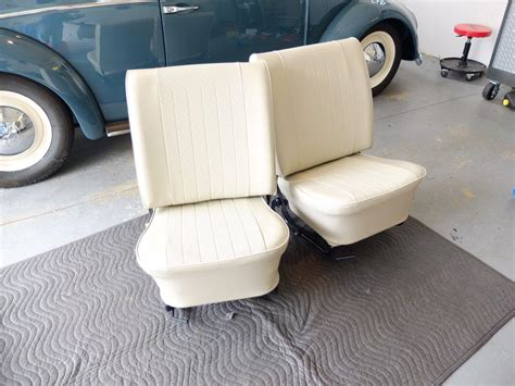 vw seat upholstery seat covers installed 1966 vw beetle project vw blvd