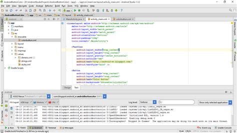 create xml android er create custom color button in android studio