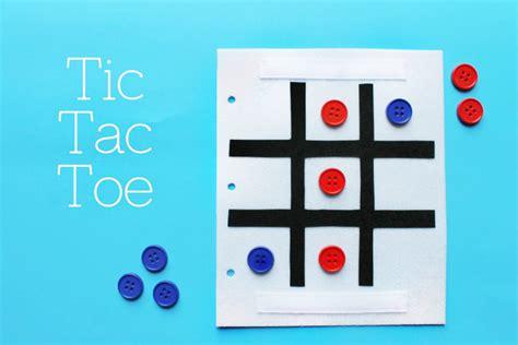 simple quiet book series tic tac toe game u create