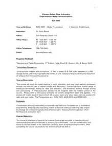 sample course syllabus mcm 3321 media presentation