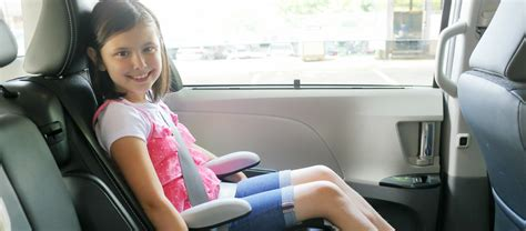 when can my child ride in a booster seat children should ride in a booster seat until they are age