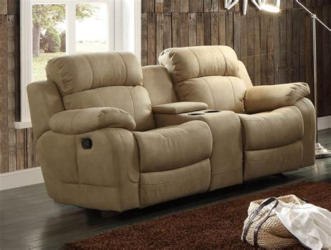dual glider reclining loveseat with console marille camel glider reclining console loveseat