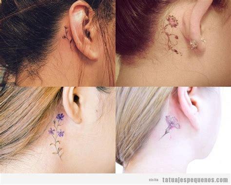 imagenes tatuajes detras de la oreja 35 dise 241 os de tatuajes peque 241 os detr 225 s de la oreja para