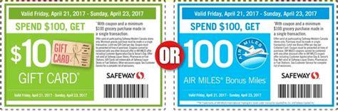 Sobeys Amazon Gift Card - safeway sobeys canada dollar days are back 10 gift card or 100 air miles