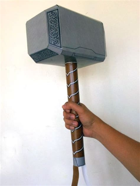movie thor hammer thor hammer papercraft avengers version