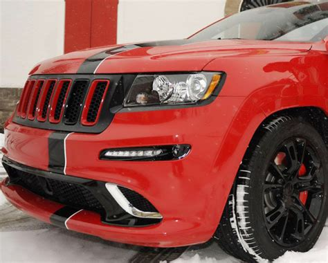 ferrari jeep xj jeep reveals ferrari themed 2012 grand cherokee srt8 for