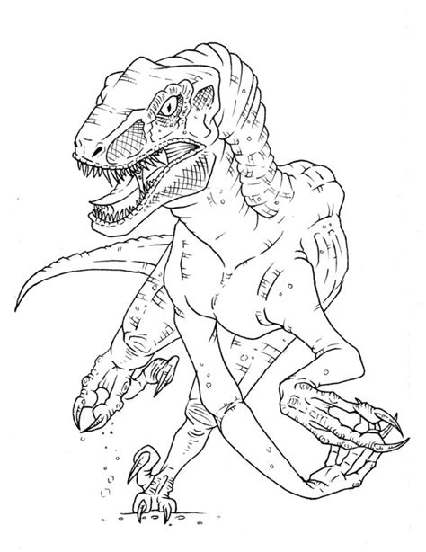 velociraptor coloring coloring pages