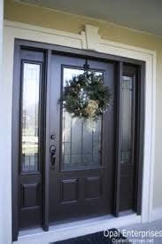 home front view 5726 black front door with sidelights search front