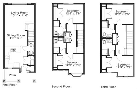 townhouse floor plan ahscgs com town house floor plans house plan 2017