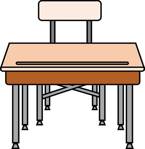 Free Vector Graphic Chair Desk Education School Free Student Desks For School