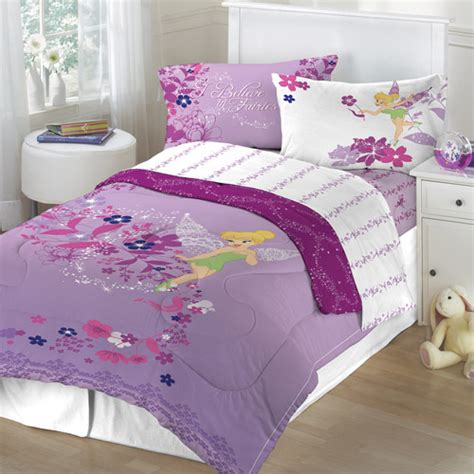 Walmart Bed Sheet Sets Tinker Bell Powder Purple Sheet Set Walmart