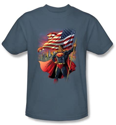 Tshirt Dc Amn Clothing superman t shirt dc comics american flag slate