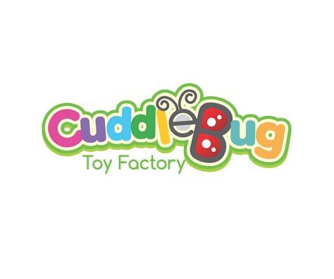 design a logo for fun playful personable logo design for cuddle bug toy factory